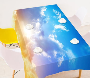 3D Blue Sky Shining Sun 9 Tablecloths Wallpaper AJ Wallpaper