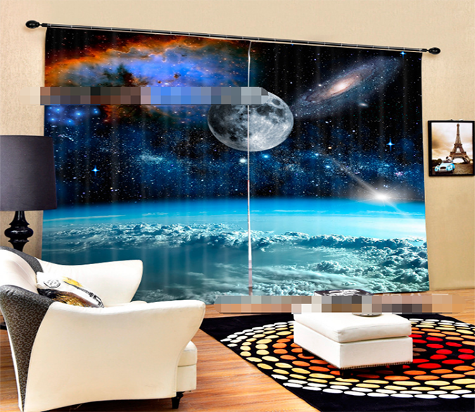 3D Space Scenery 2028 Curtains Drapes Wallpaper AJ Wallpaper