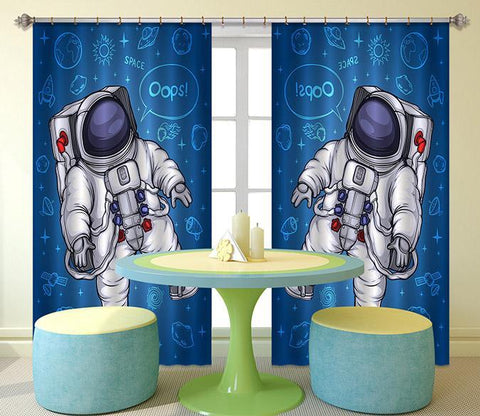 3D Astronaut 2405 Curtains Drapes Wallpaper AJ Wallpaper