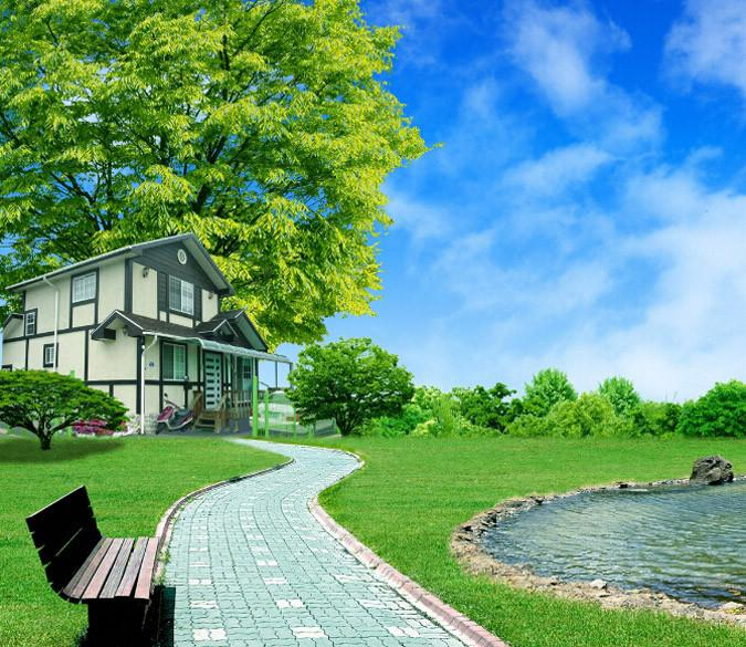 Lawn House Wallpaper AJ Wallpaper