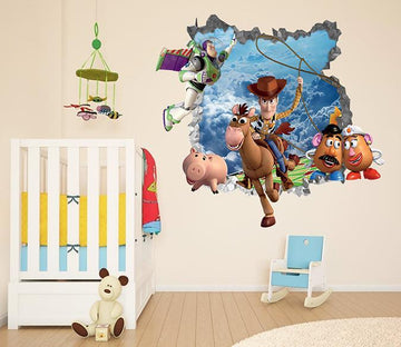3D Toy Story 73 Broken Wall Murals Wallpaper AJ Wallpaper