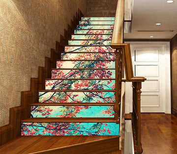 3D Pretty Flowering Tree 1020 Stair Risers Wallpaper AJ Wallpaper