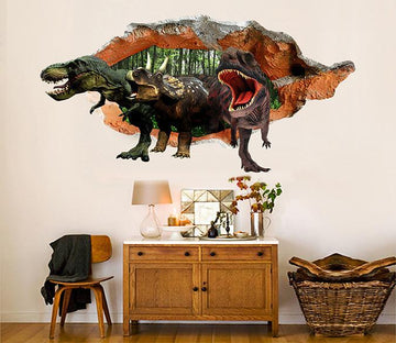 3D Dinosaurs 30 Broken Wall Murals Wallpaper AJ Wallpaper