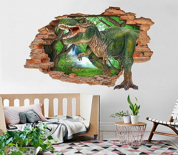 3D Big Dinosaur 92 Broken Wall Murals Wallpaper AJ Wallpaper