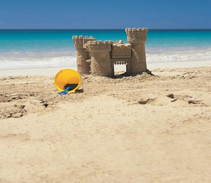 Beach Sand Castle Wallpaper AJ Wallpaper
