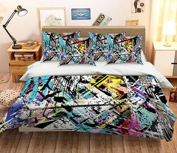 3D Graffiti Lines 139 Bed Pillowcases Quilt Wallpaper AJ Wallpaper
