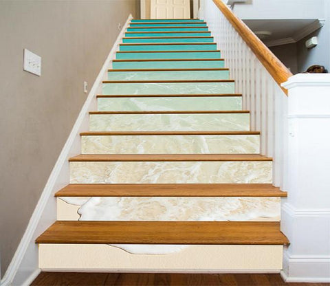 3D Beach Foams 1107 Stair Risers Wallpaper AJ Wallpaper