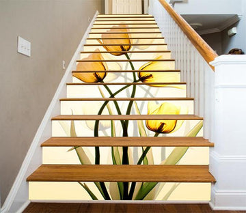 3D Tulip Flowers 945 Stair Risers Wallpaper AJ Wallpaper