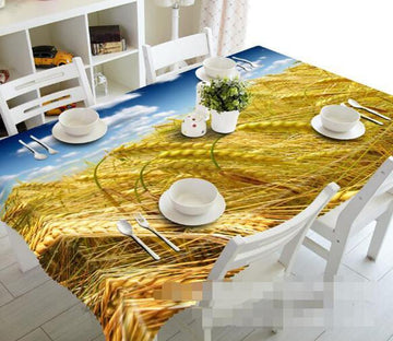 3D Rice Field 1098 Tablecloths Wallpaper AJ Wallpaper