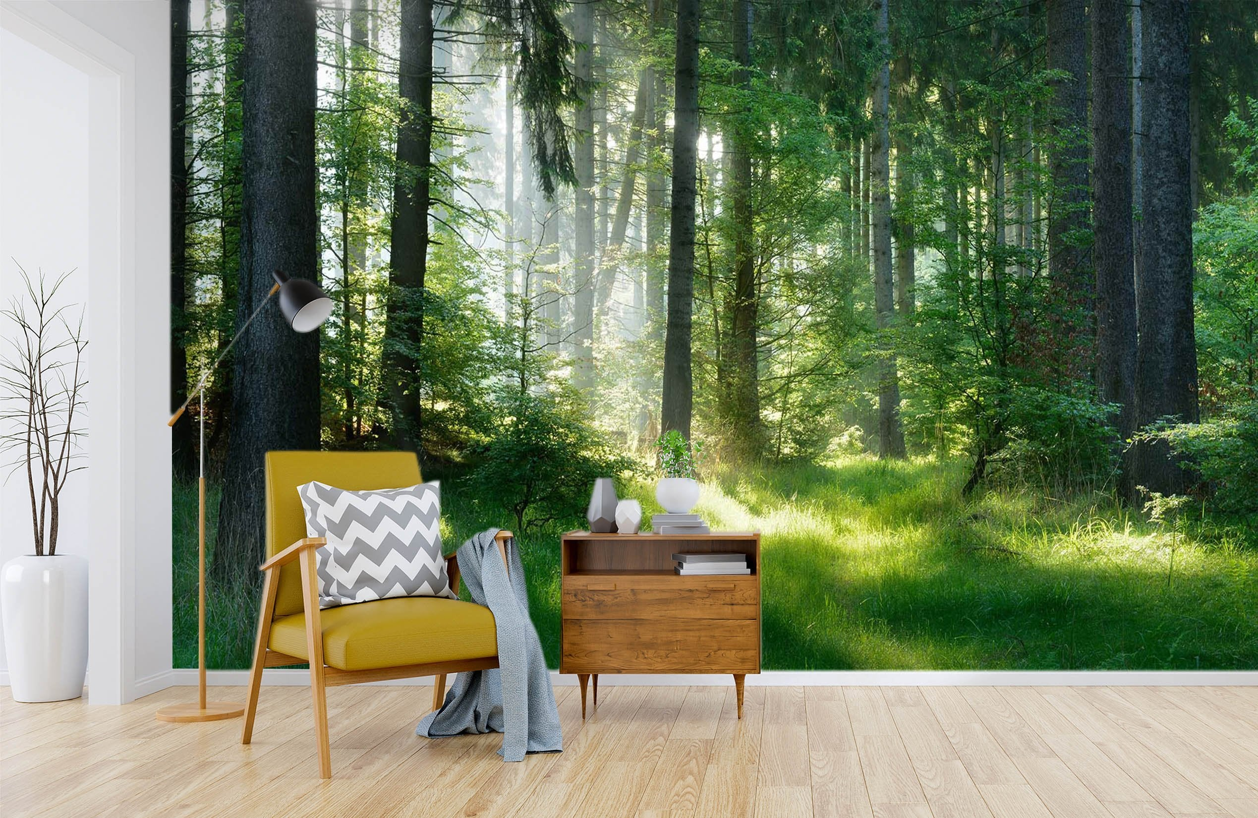 3D Sunshine Forest 663 Wallpaper AJ Wallpaper 2