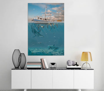 3D HRage Of The Dolphin 063 Vincent Hie Wall Sticker