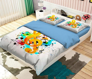 3D Colorful Notes 019 Bed Pillowcases Quilt Wallpaper AJ Wallpaper