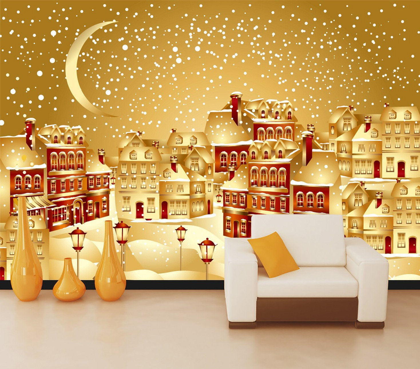 3D Christmas Moon And Star 63 Wallpaper AJ Wallpaper