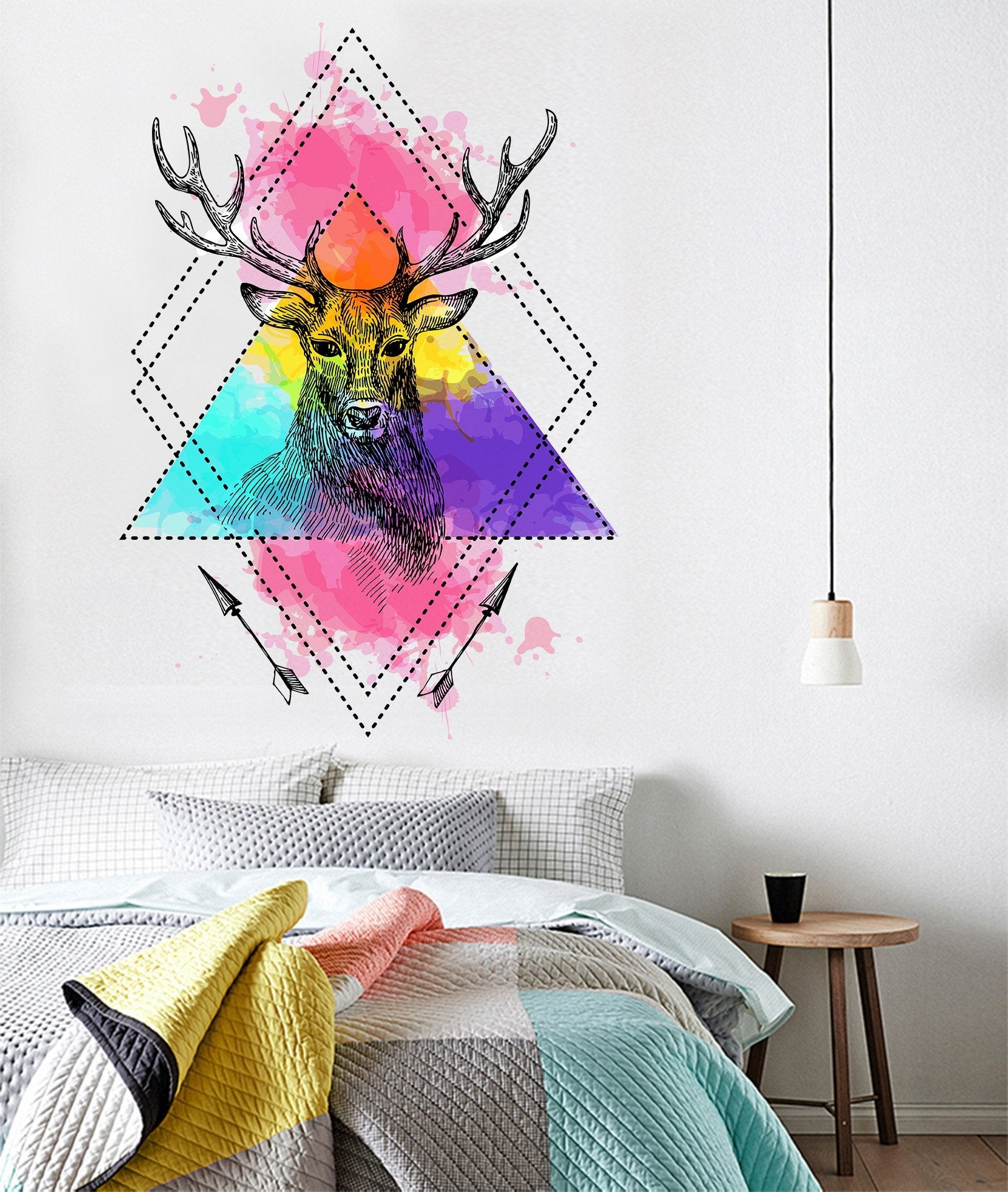 3D Deer Head Arrow 048 Wall Stickers Wallpaper AJ Wallpaper