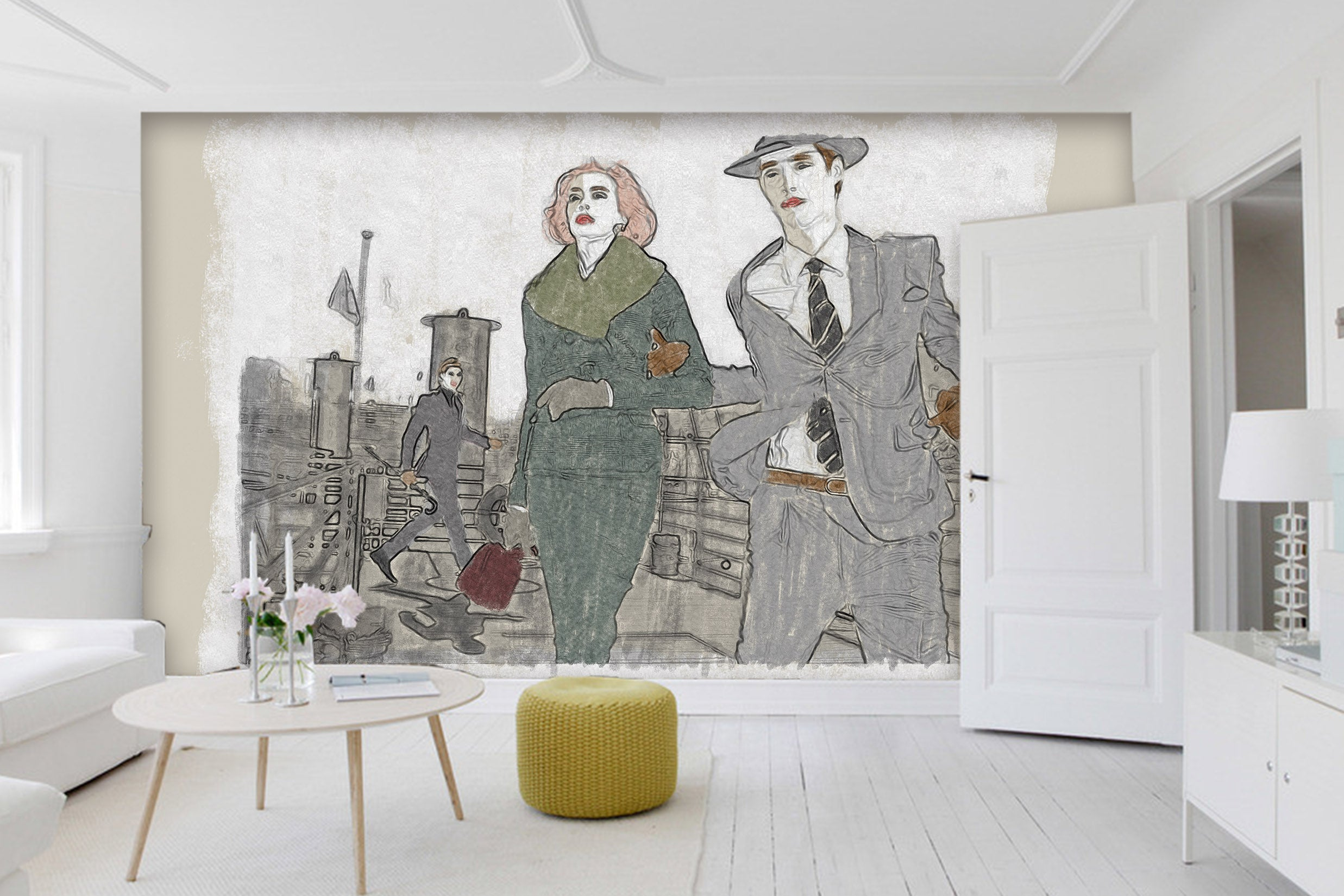 3D Dating Couple 1409 Marco Cavazzana Wall Mural Wall Murals