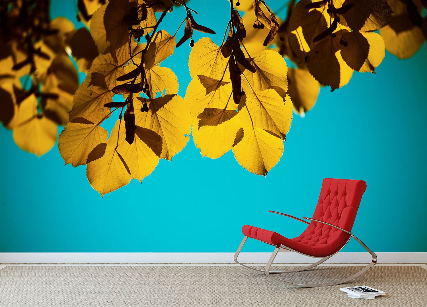 Hanging Leaves Wallpaper AJ Wallpaper