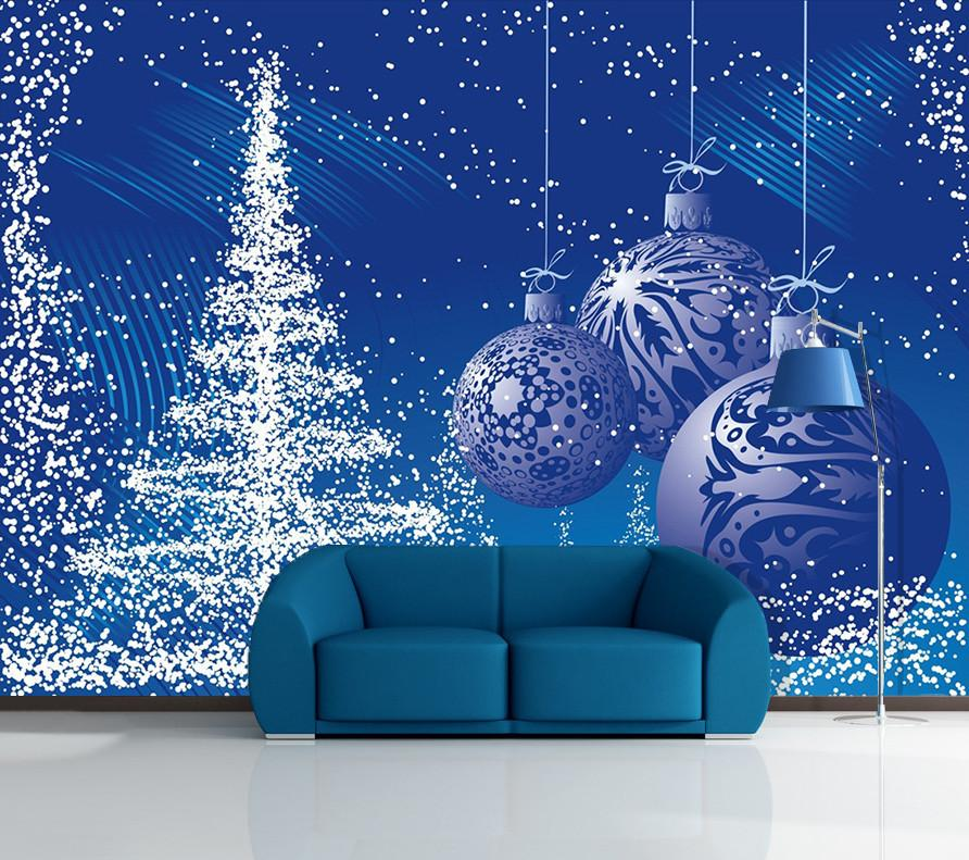 3D Christmas Tree Blue Light 45