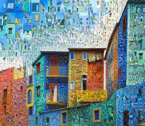 3D Color Houses 061 Wallpaper AJ Wallpaper