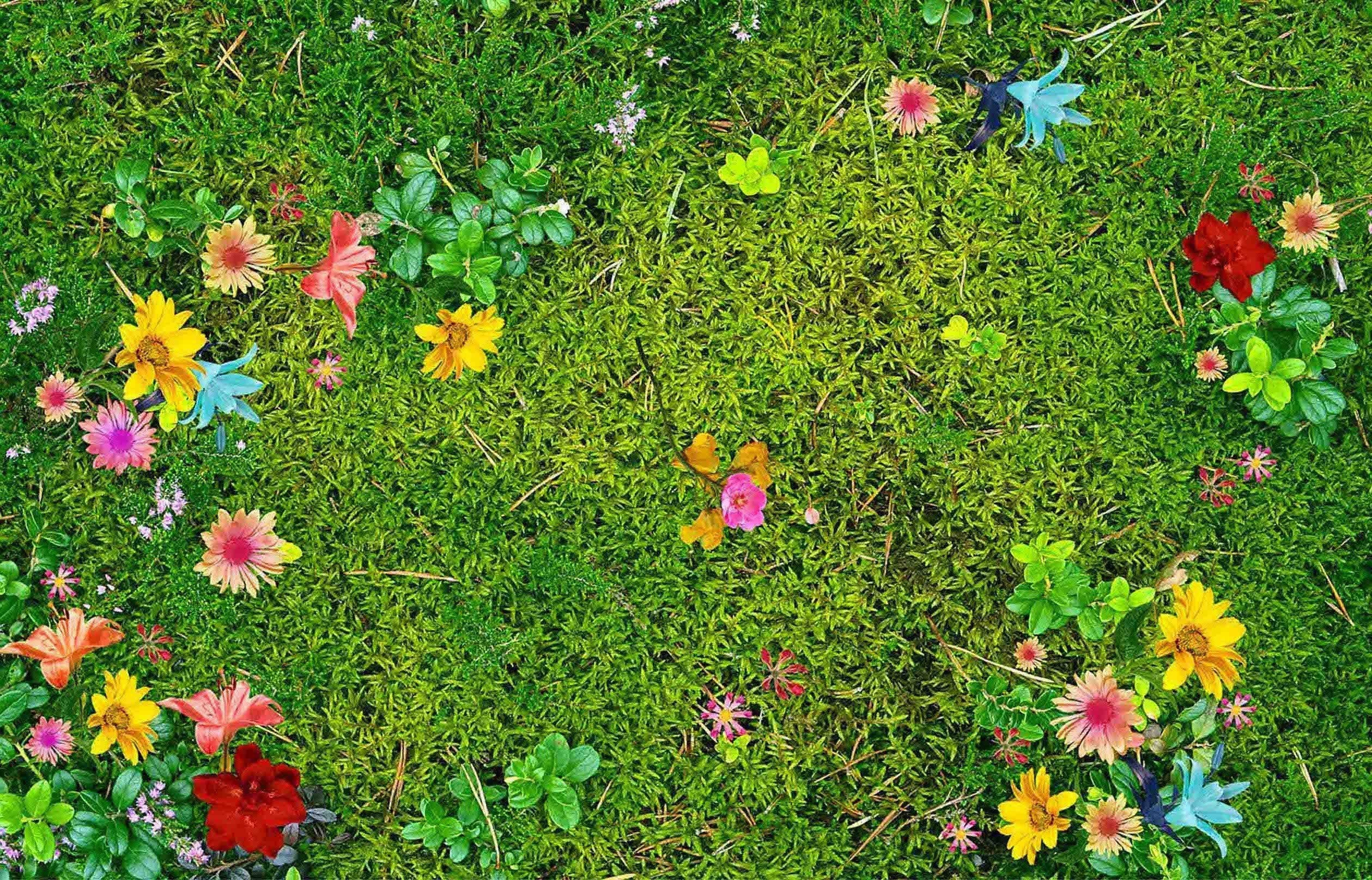 3D Meadow Flowers 159 Kitchen Mat Floor Mural Wallpaper AJ Wallpaper