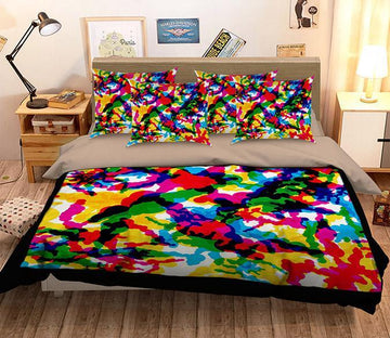 3D Abstract Color 068 Bed Pillowcases Quilt Wallpaper AJ Wallpaper