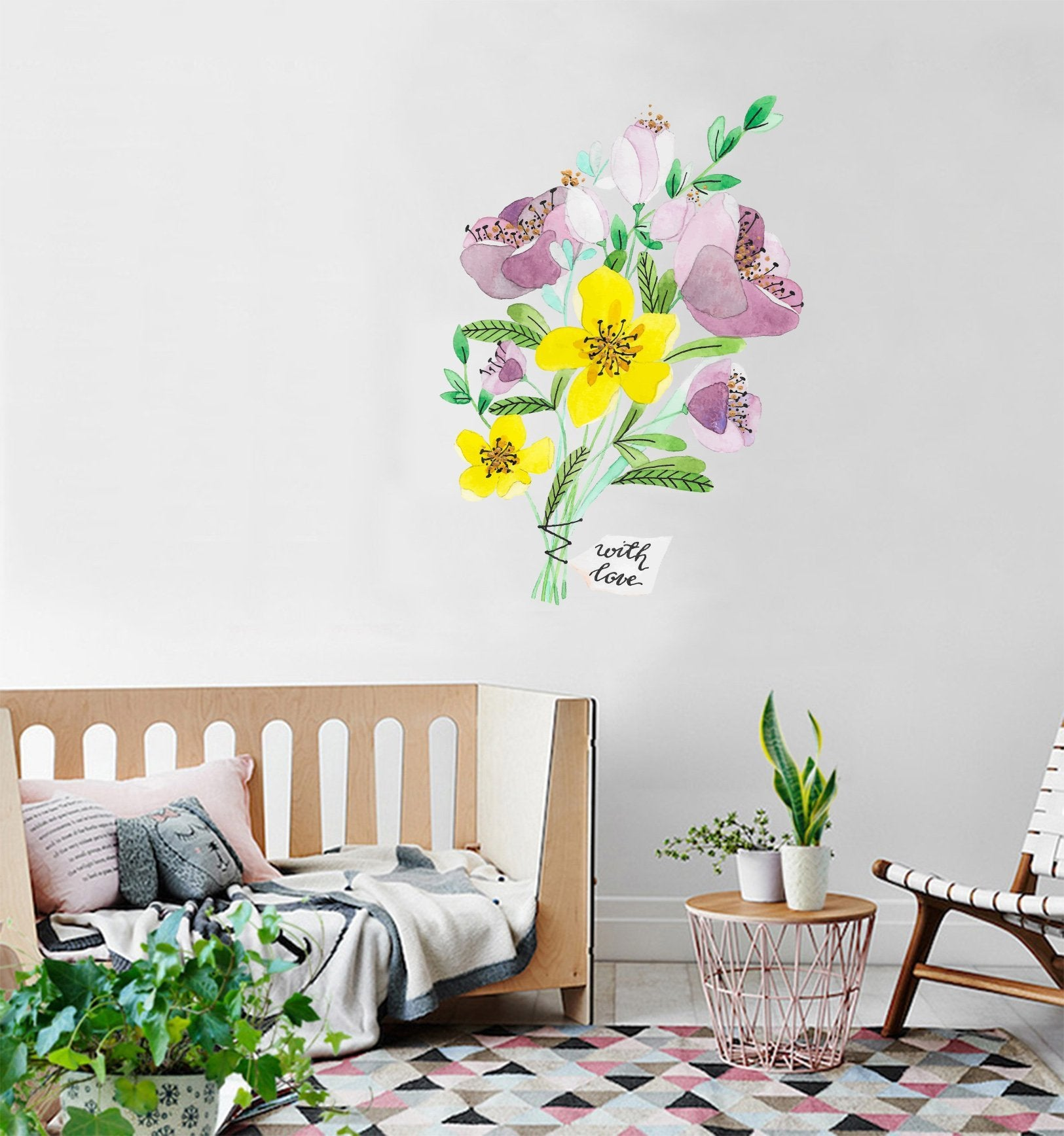 3D Bouquet Label 170 Wall Stickers Wallpaper AJ Wallpaper