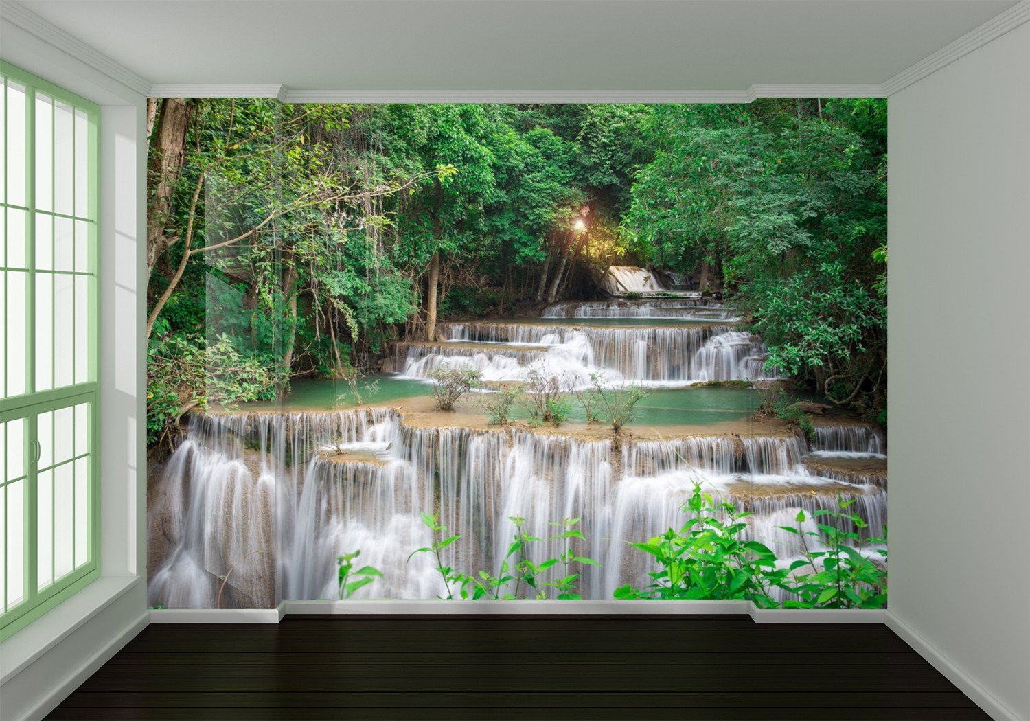 Green Flowing Stream 74 Wallpaper AJ Wallpaper