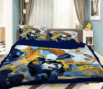 3D Abstract Painting 074 Bed Pillowcases Quilt Wallpaper AJ Wallpaper