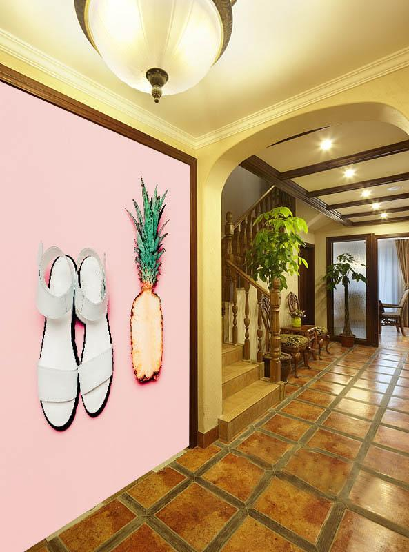 3D Pineapple Slippers 115 Wallpaper AJ Wallpaper