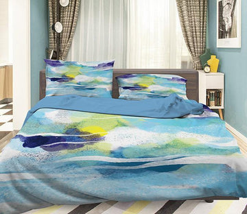 3D Abstract Rivere 101 Bed Pillowcases Quilt Wallpaper AJ Wallpaper