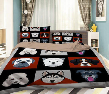 3D Animal Head 105 Bed Pillowcases Quilt Wallpaper AJ Wallpaper