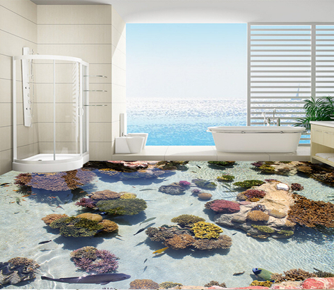 3D Crystal Clear 133 Floor Mural