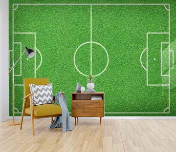 3D football Field 062 Wallpaper AJ Wallpaper