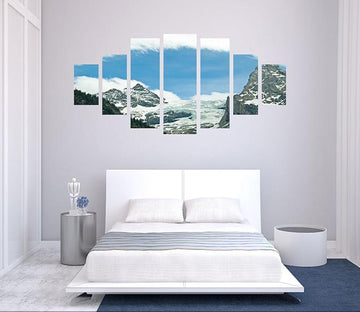 3D High Mountains 001 Unframed Print Wallpaper Wallpaper AJ Wallpaper