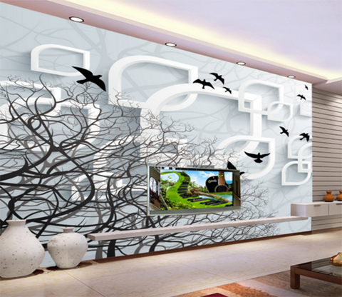 3D Bird Tree 219 Wallpaper AJ Wallpaper