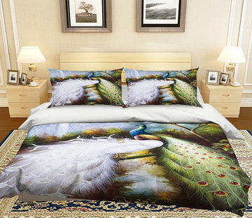3D Beautiful Peacock 015 Bed Pillowcases Quilt Wallpaper AJ Wallpaper
