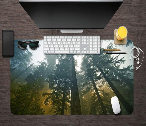 3D Sky Woods 096 Desk Mat Mat AJ Creativity Home
