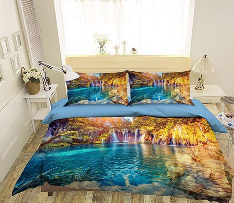 3D Valley River 041 Bed Pillowcases Quilt Wallpaper AJ Wallpaper