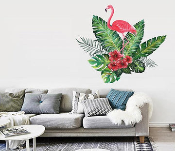 3D Long Leaf Flamingo 178 Wall Stickers Wallpaper AJ Wallpaper