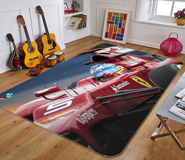 3D Race Car Driver 302 Non Slip Rug Mat Mat AJ Creativity Home