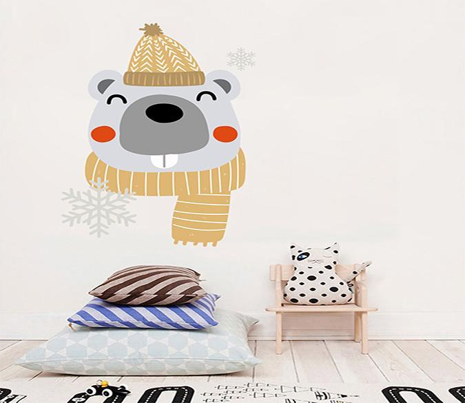 3D Cartoon Bear Head 112 Wall Stickers Wallpaper AJ Wallpaper