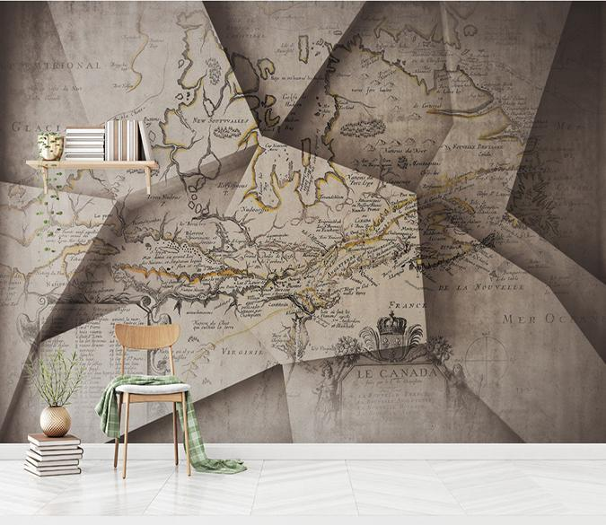 3D Map Paper 144 Wallpaper AJ Wallpaper