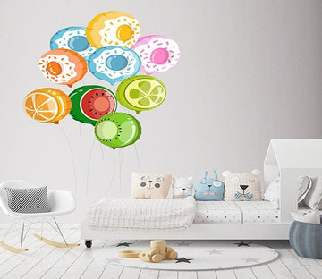3D Fruit Balloon 118 Wall Stickers Wallpaper AJ Wallpaper