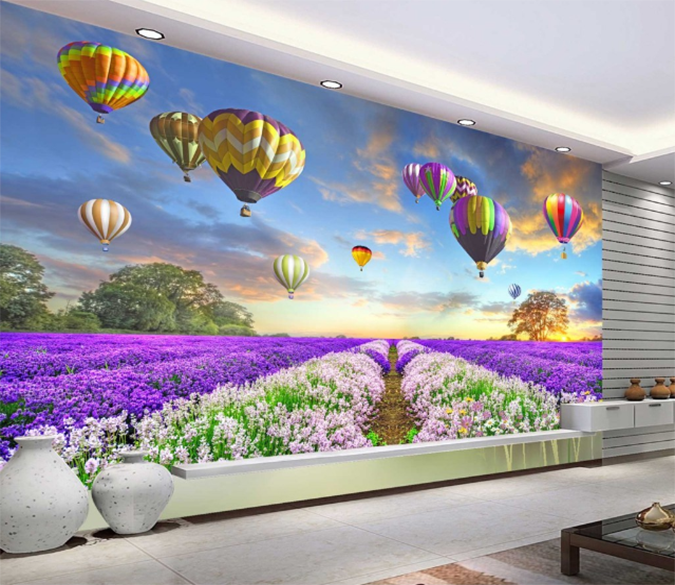 3D Lavender Garden 360 Wallpaper AJ Wallpaper