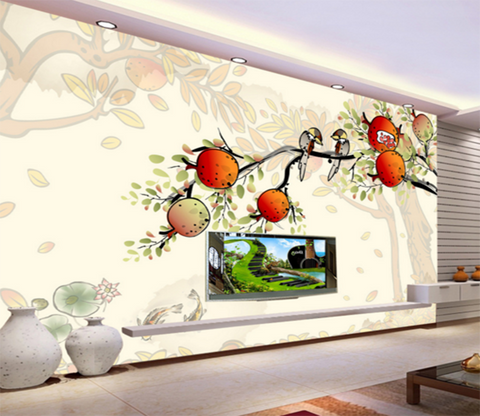 3D Bear Fruit 144 Wallpaper AJ Wallpaper