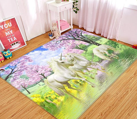 3D Unicorn River 576 Non Slip Rug Mat Mat AJ Creativity Home