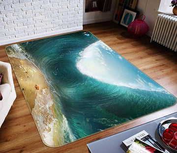 3D Rising Waves 716 Non Slip Rug Mat Mat AJ Creativity Home