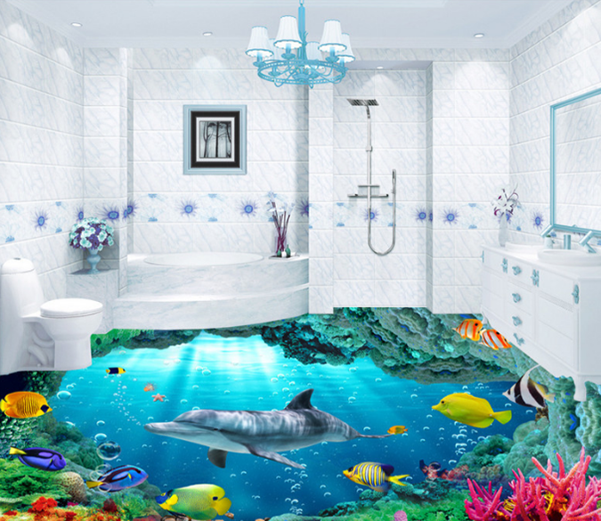 3D Undersea Creatures 099 Floor Mural Wallpaper AJ Wallpaper 2