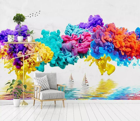 3D Color Thick Ink 129 Wallpaper AJ Wallpaper