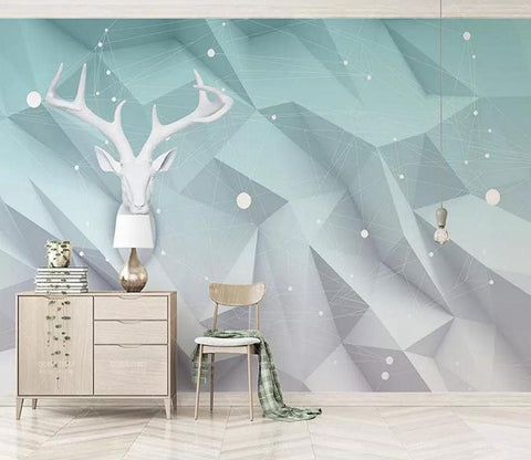 3D White Deer Head 122 Wallpaper AJ Wallpaper