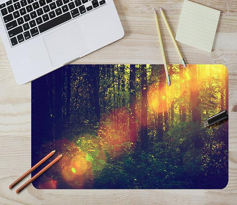 3D Forest Halo 093 Desk Mat Mat AJ Creativity Home